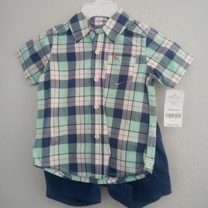 Carter's NWT Shirt and Shorts 9month